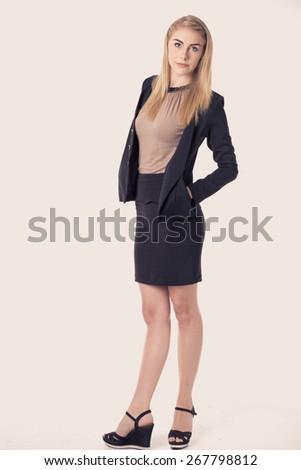 Successful business woman portrait - stock photo