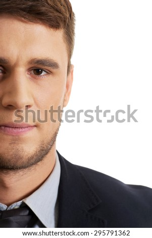 Successful confident businessman in business suit. - stock photo
