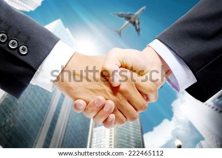Successful cooperation - stock photo