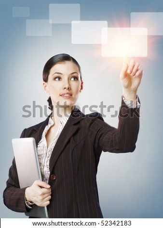 successful person making use of innovative technologies - stock photo