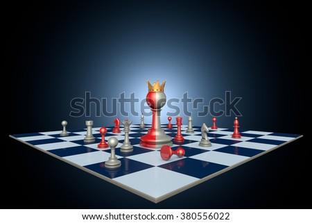 Successful political career (chess metaphor) - stock photo