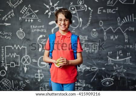 Successful schoolboy - stock photo