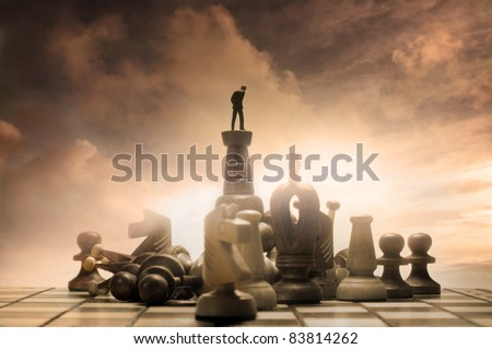 Successful Strategy. Conceptual Photography. - stock photo