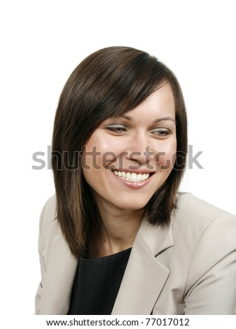 Successful woman isolated on white background - stock photo