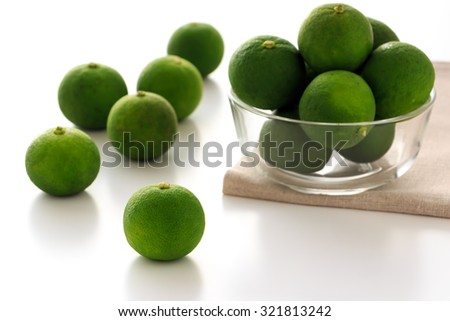 Sudachi; green small Japanese citrus