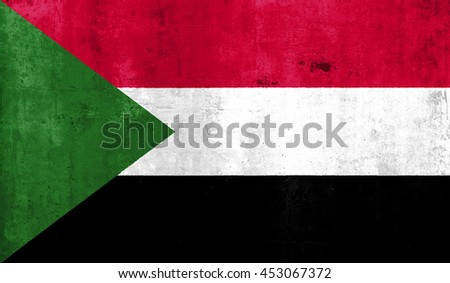 Sudan with grunge wall texture background.