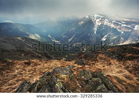 Sudeten mountaine - stock photo