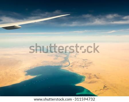 Suez Canal - stock photo