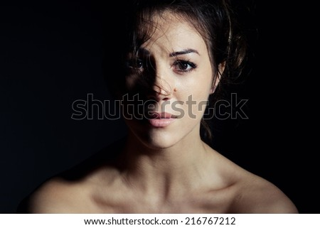 suffering woman - stock photo