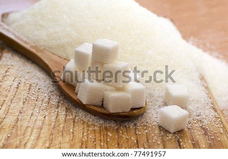 sugar - stock photo