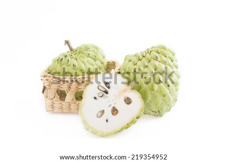 Sugar apple isolate on white background