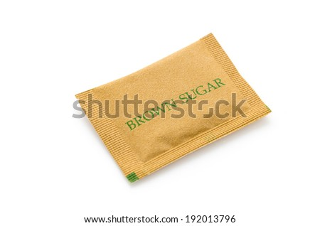 Sugar bag isolated on white