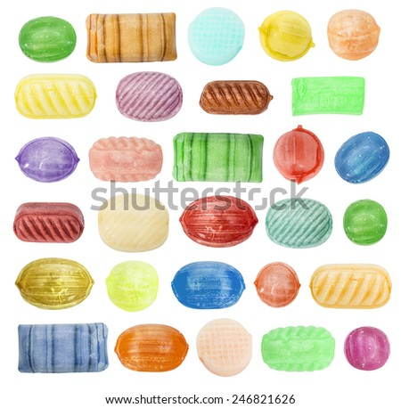 sugar candy caramel of a different form - stock photo