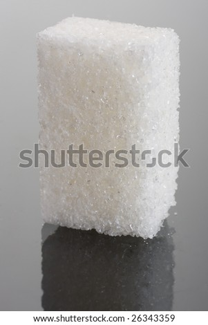 Sugar crystal on glass  background - stock photo