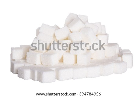 Sugar cubes background, black and white