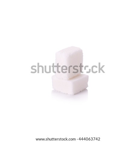 Sugar cubes in a glass bottle