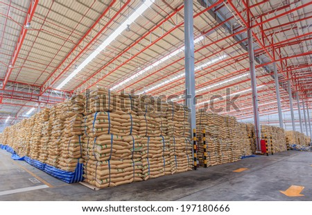 Sugar in Warehouse  - stock photo