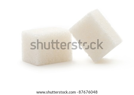 Sugar isolated on the white background - stock photo