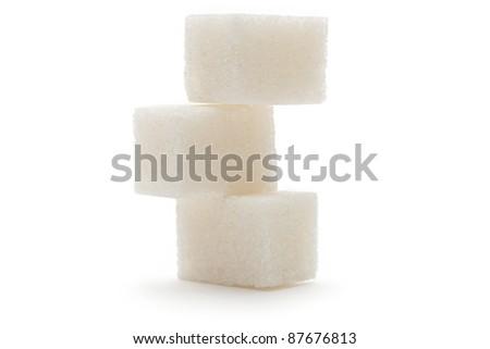 Sugar isolated on the white background - stock photo