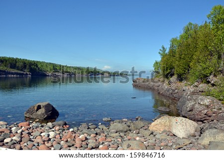 Sugar Loaf Cove 2, Lake Superior,  Minnesota - stock photo