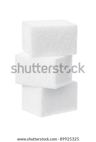 sugar on a white background - stock photo
