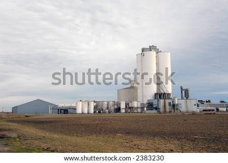 Sugar refinery, Tracy, California - stock photo