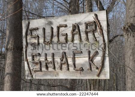 Sugar Shack sign, folk art - stock photo