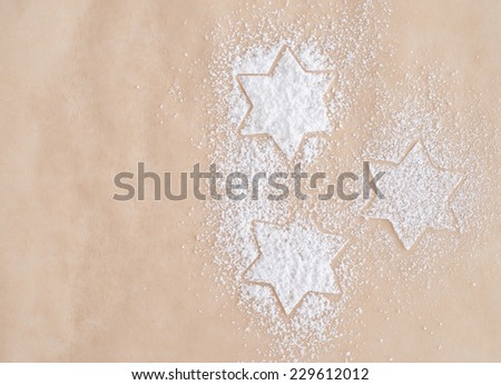 sugar stars on bright background - stock photo