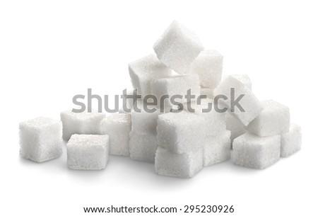Sugar, Sugar Cube, Cube. - stock photo
