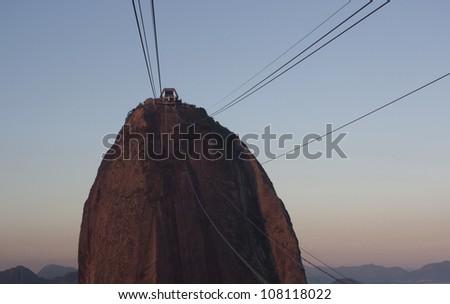 Sugarloaf mountain in Rio de Janeiro - stock photo