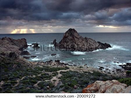 Sugarloaf Rock - Cape Naturaliste, Western Australia - stock photo