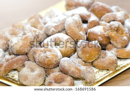 Sugary Doughnuts, traditional sweets of Spain