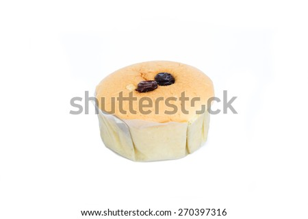 sugary muffins isolated on a white background - stock photo