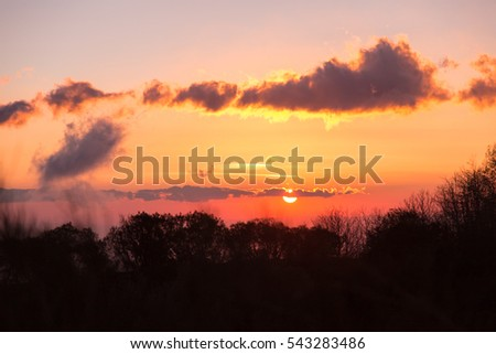 Suggestive sunrise from Etna volcano - Sicily