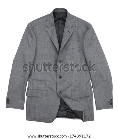 suit jacket isolated on white background
