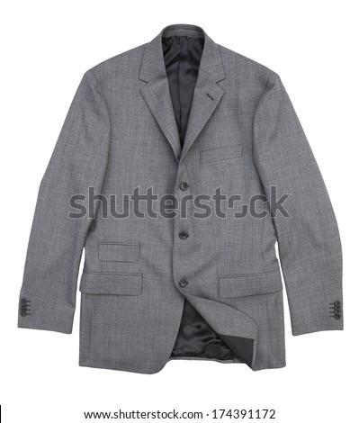 suit jacket isolated on white background - stock photo