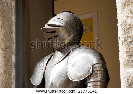 Suit of armor - stock photo