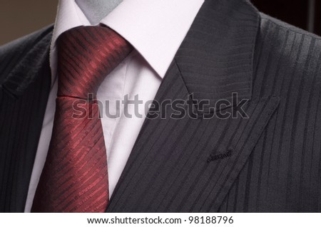 Suit, shirt, tie - stock photo