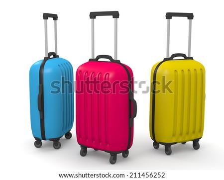 suitcase - stock photo