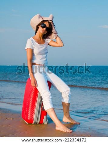 Suitcase Beach Resort  - stock photo