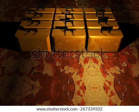 Suitcase Chipped pain - stock photo