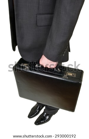 Suitcase in hand businessman