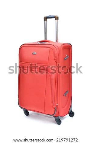 Suitcase isolated on a white background - stock photo