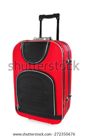 Suitcase isolated on white