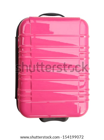 suitcase isolated on white background (with clipping path) - stock photo