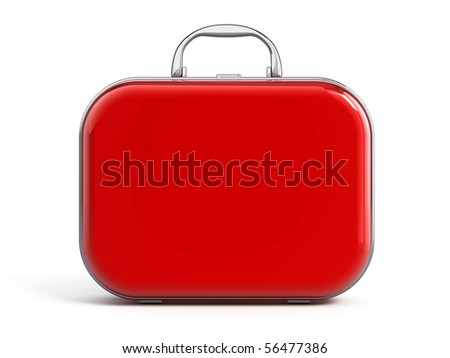 Suitcase isolated over white - stock photo