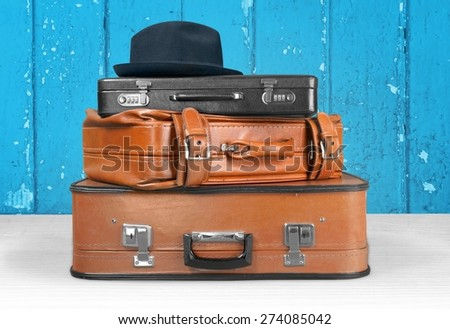 Suitcase, Luggage, Retro Revival. - stock photo