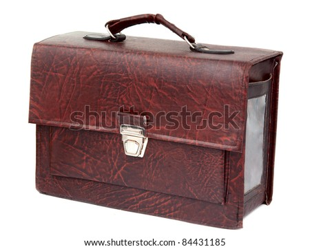 suitcase on white background