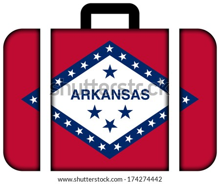 Suitcase with Arkansas State Flag