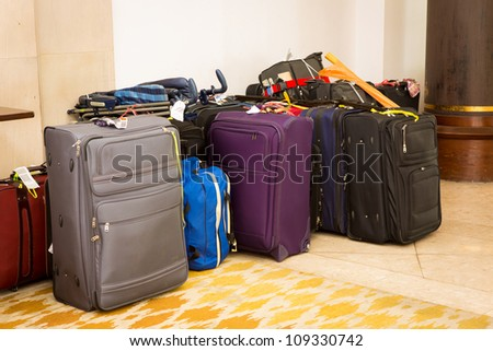 Suitcases and travel bag - stock photo